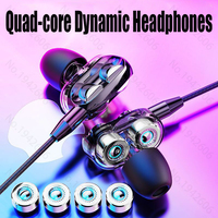 Original headphones wired with microphone 3.5mm in-ear earphone music bass high quality wired earbuds for mobile phone universal