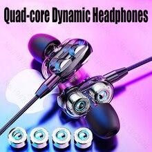 Auriculares internos con cable y micrófono 3,5mm, auriculares originales para música, graves, alta calidad, con cable, para teléfono móvil, universal