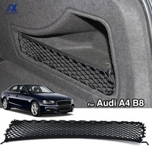 Sac de rangement pour siège arrière de voiture, sac de rangement pour siège arrière de voiture, filet en maille, sac en ficelle élastique, accessoires de voiture pour Audi A4 B8 2008 – 2016