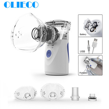 Mini Handheld Portable Mesh Nebulizer Silent Ultrasonic Medical Steaming Inhaler Adult Kids Rechargeable Respirator Humidifier