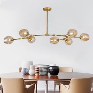 Image 1 - Vintage Loft Industrial Nordic Chandelier For Dining Kitchen Stair Black/gold Suspension Luminaire Modern Chandelier Lighting