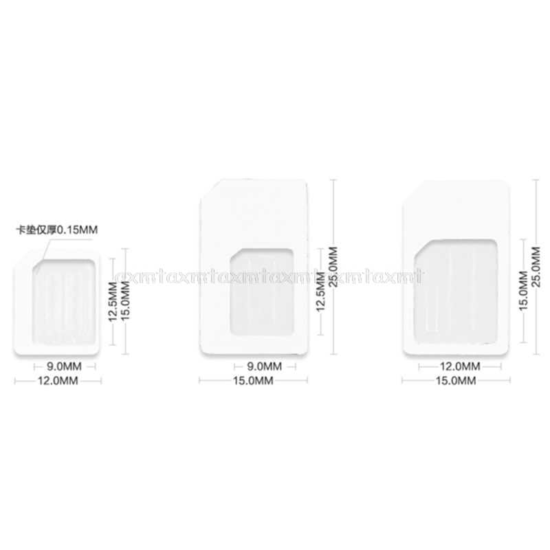 4 in 1 Convert Nano SIM Card to Micro Standard Adapter For iPhone for Samsung 4G LTE USB Wireless Router N08 19 Dropship
