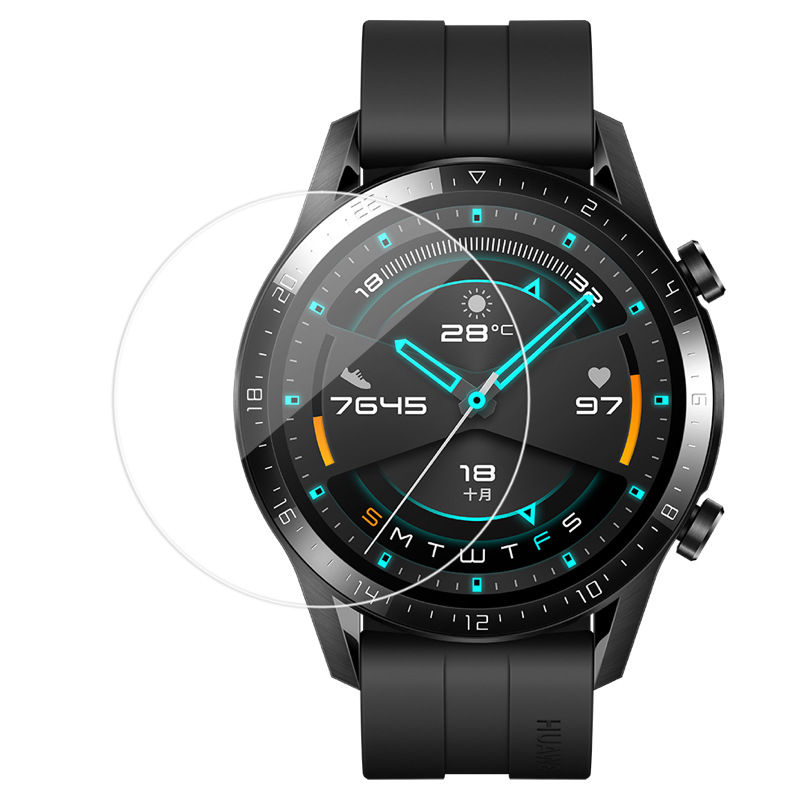 3 Pcs 2.5D Watch Tempered Glass Screen Protector For Huawei Watch GT 1 / Watch GT 2 46mm Protective Film