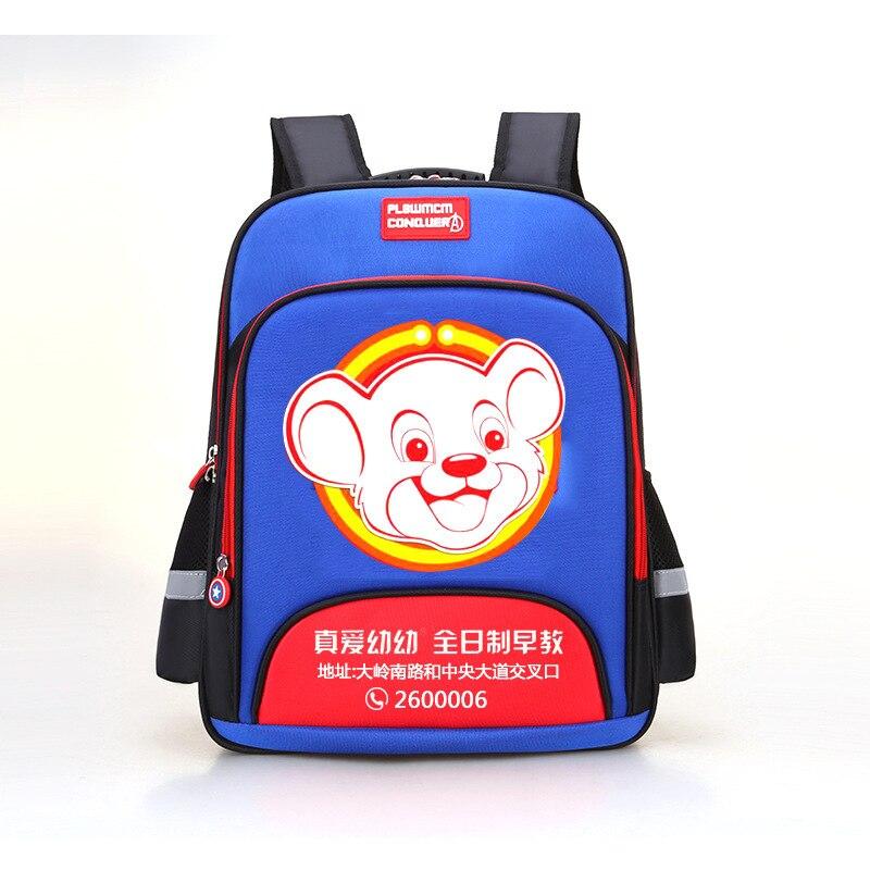 CHILDREN'S School Bags BOY'S 1 Young STUDENT'S 3 1346 Class Women's Boy Lightweight America Captain Backpack