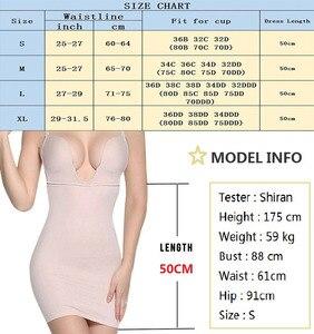 Image 5 - NINGMI Women Slimming Shapewear Bodysuit Shaper Sexy Cup Bra Wedding Body Shaper Waist Trainer Full Slip Underwear Dress Briefer