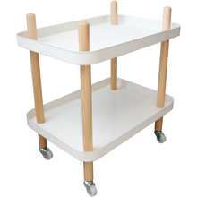 Simple double-layer trolley rack creative movable side table