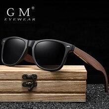 GM, ручная работа, орех, деревянные очки, поляризационные, зеркальные, солнцезащитные очки для мужчин и женщин, Винтажный дизайн, Oculos de sol masculino, UV400