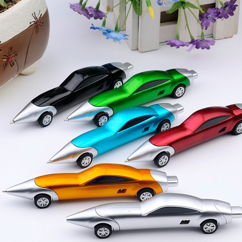 1PC Funny Novelty Racing Car Design Ball Pens Portable Creative Ballpoint Pen Quality For Child Kids Toy K0098