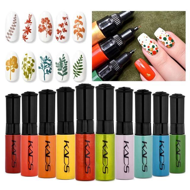 KADS 41pcs Nail Stamping Polish Set Nail Art Stamp Plate Printing Lacquer 7ml DIY Nail Art Polish for Nails Manicure Varnish 3