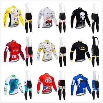 Camiseta de Ciclismo de manga larga para hombre y mujer, conjunto de...