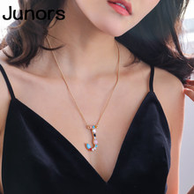 Zircon Initials Letter Necklace women pendants 925 colors crystal custom Name Necklace For Women Alphabet fashion jewelry gifts(China)