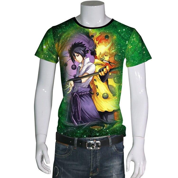 AliExpress EBay commerce extérieur nouveau Style 3D impression numérique Naruto Sasuke Naruto T-shirt à manches courtes vêtements XA111