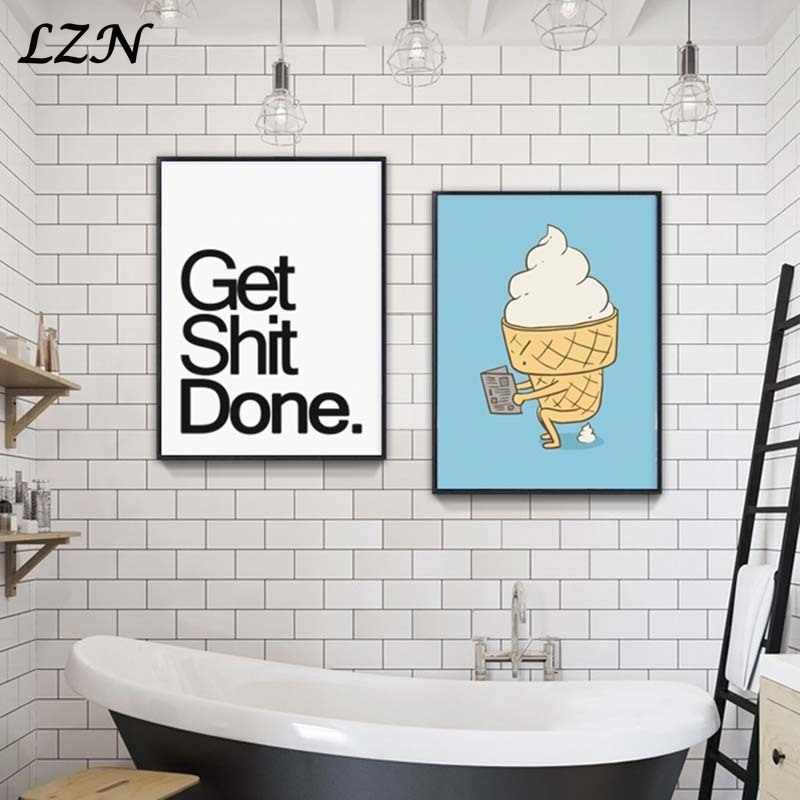 Nordic Canvas Painting Art Poster By Numbers Drawing Toilet Ice-Cream Pictures Wall Deco for Livingroom Home Decoration Unframed
