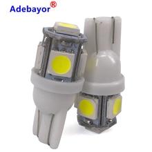 1000pcs T10 W5W HA CONDOTTO LA Lampadina 5 SMD LED Bianco 194 168 Super Luminoso del cuneo Luci di lampadine Lampade 12V 5050 SMD larghezza lampadina Adebayor