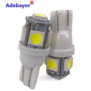 1000pcs T10 W5W LED Bulb 5 SMD LED White 194 168 Super Bright wedge Lights bulbs Lamps 12V 5050 SMD width bulb Adebayor