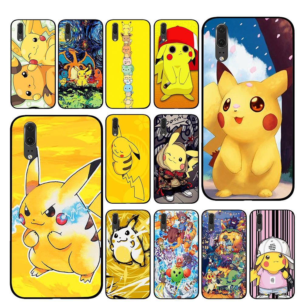 Cute Pikachue <font><b>Anime</b></font> For Huawei <font><b>Honor</b></font> V9 V10 <font><b>8</b></font> 9 10 8X 5A 7A 5X Play Lite TPU Phone <font><b>Cases</b></font> Cover image