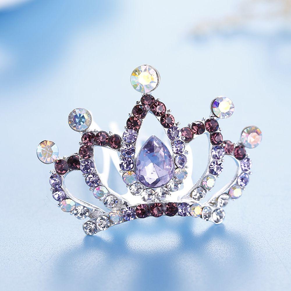 DR7 Rhinestone Hollow Princess Crown Headwear Tiara Girl Kids Hair Accessory Fas