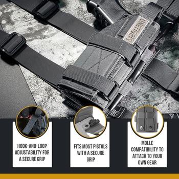 OneTigris Tactical Gun Holster Molle Modular Belt Pistol Holster for Right Handed Shooters Glock 17 19 22 23 31 32 34 35 5