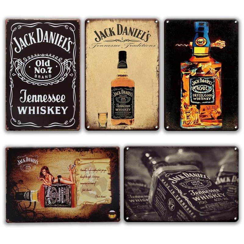 Jack Daniels Metal Retro Bottle Top Free p/&p