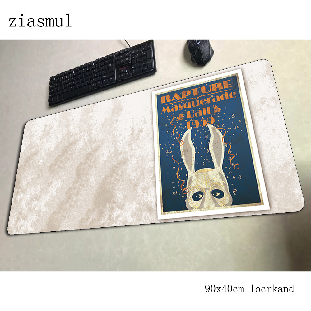 bioshock <font><b>padmouse</b></font> <font><b>900x400x3mm</b></font> gaming mousepad game High quality mouse pad gamer computer desk big mat notbook mousemat pc image