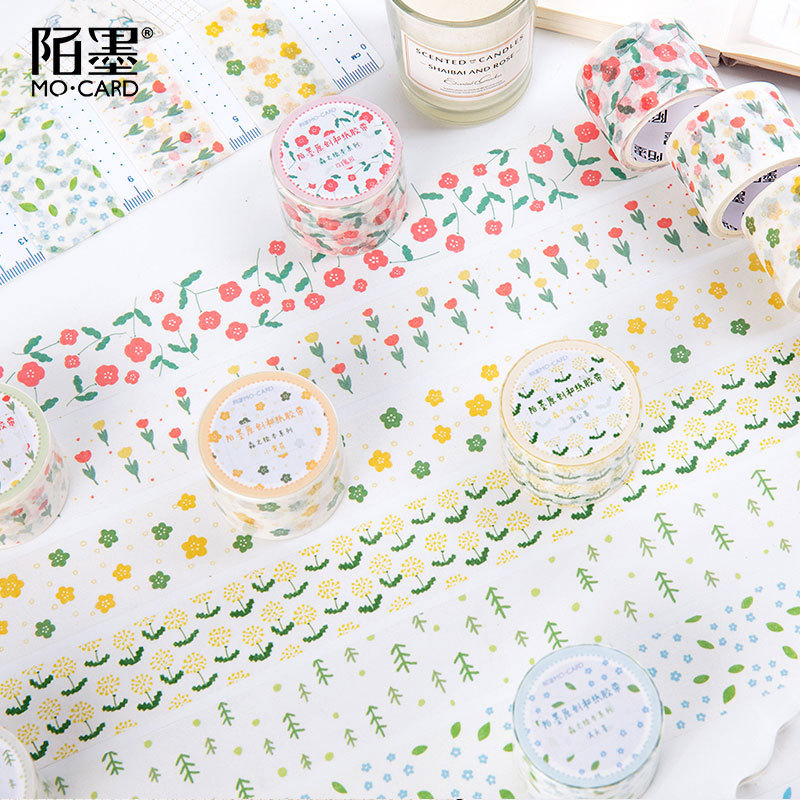 3cm Forest Series Rain Rose  Dandelion Decorative Washi Tape DIY Scrapbooking Masking Craft Tape School Office Supply