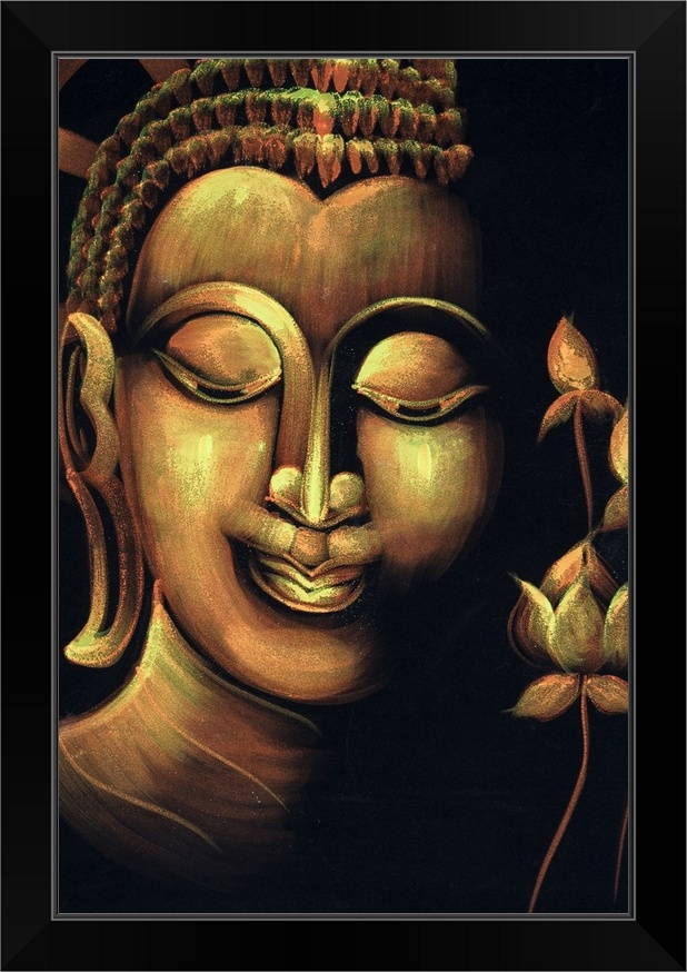 framing available,slight texture Buddhist Monks Oil Painting 24x24.NOT a poster