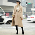 Customized Design Handmade Double-sided Cashmere Wool Long Coat and Skirt Suits Women's High Quality Luxury Women's Formal Sets