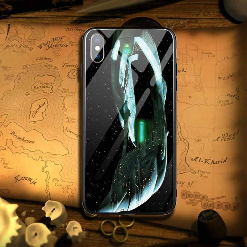 Star Trek Vaisseau Spatial Téléphone étui pour iphone 5 5S SE 6S 7plus 8 8plus X XR XS Max Coque Arrière du Téléphone Funda Coque