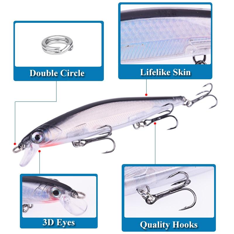 Бренд Proleurre Лазерная пластиковая рыболовная приманка для гольяна 110 мм 13,8 г Медленно тонущие воблеры 3D глаза Искусственная жесткая приманка Судак Карп Swimbait Рыболовные снасти Pesca 4