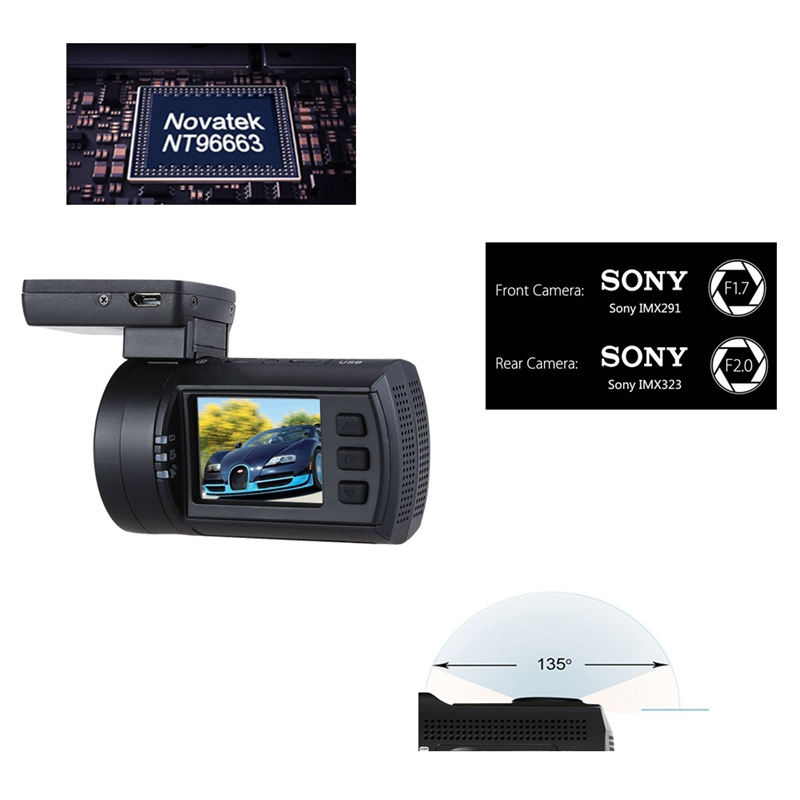Mini Dvr Auto Dash Camera Speed Coördineren Gps 1080P 60FPS Hd Video Recorder Super Condensator Met Afstandsbediening Temperaturen - 6