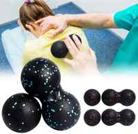 (ship now)Peanut Massage Ball Fascia Ball Set Double Lacrosse Fitness Mobility Ball for Physical Therapy Self-Myofascial Release