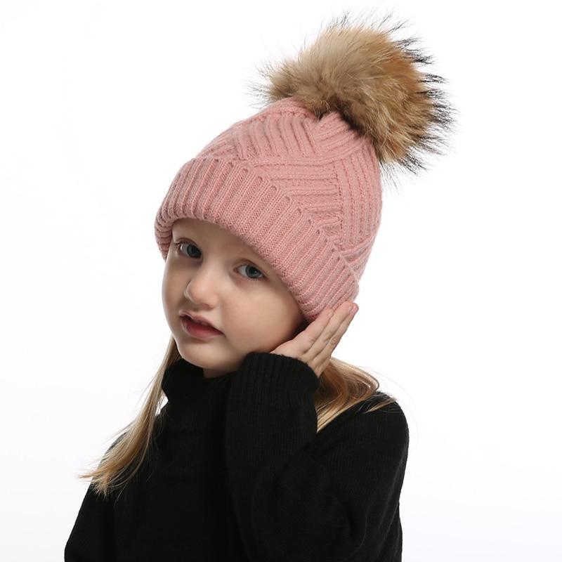 bonnet Pompon laine