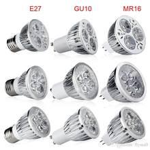 O envio gratuito de led spotlight gu10 lâmpada led 220v 3w 9 12 15 dimmable gu10 conduziu a lâmpada para baixo a luz para a iluminação interna do ponto da casa