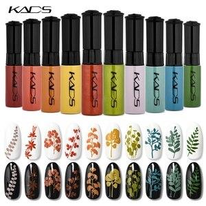Image 2 - Esmalte de uñas estampado Set uñas plantillas barniz 10g 41 colores de esmalte de uñas Set 2 usos Nail art pen sellos uñas placas