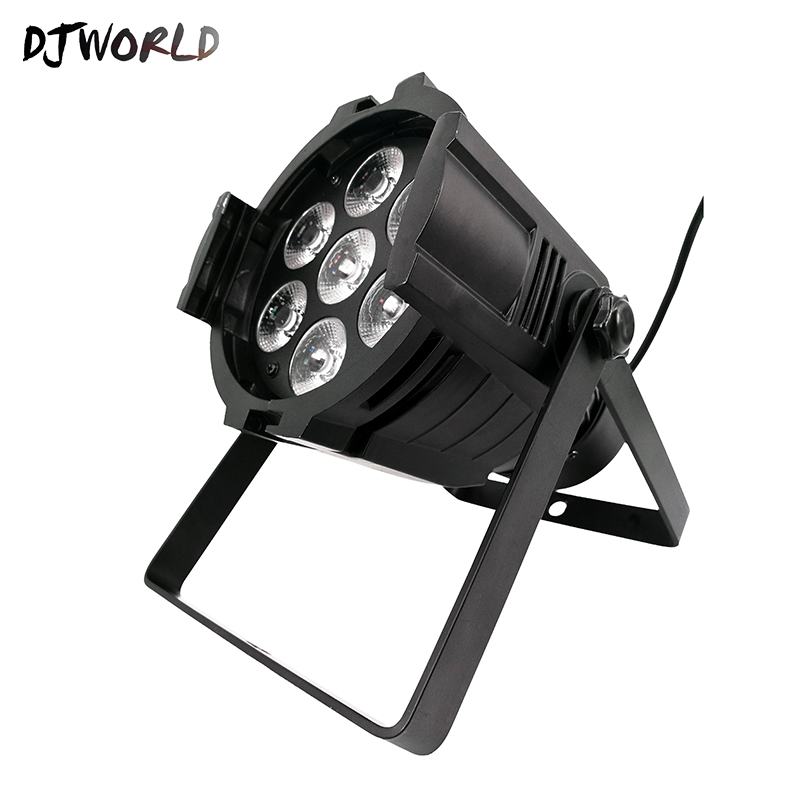 LED Can Par 7x18W Light Aluminum Shell RGBWA+UV Dmx512 Stage Lamp Profession For Party Wedding Dmx Stage Light Good Party