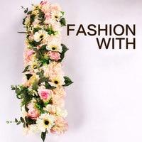 100cm DIY Wedding Party Floral Wall Decoration Silk Peony Rose Fake Flower Decoration Wedding Ball Garden Arch Display Flower
