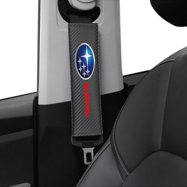 Para Subaru Impreza Forester Tribeca XV BRZ, recién llegado, Protección de fibra de carbono, funda, 2 uds