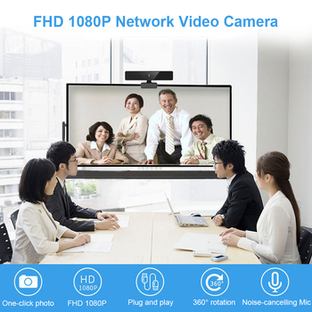 Full HD 1080P Webcam with Built-in Microphone Video Conference Live Streaming USB Web Camera for PC Computer Webcam
