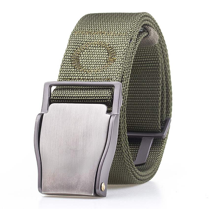 10 Colors Military Army Belt Tactical Designer Men Canvas Belts For Pants Long Nylon Strap Metal Buckle Male Elastic Waist Belt