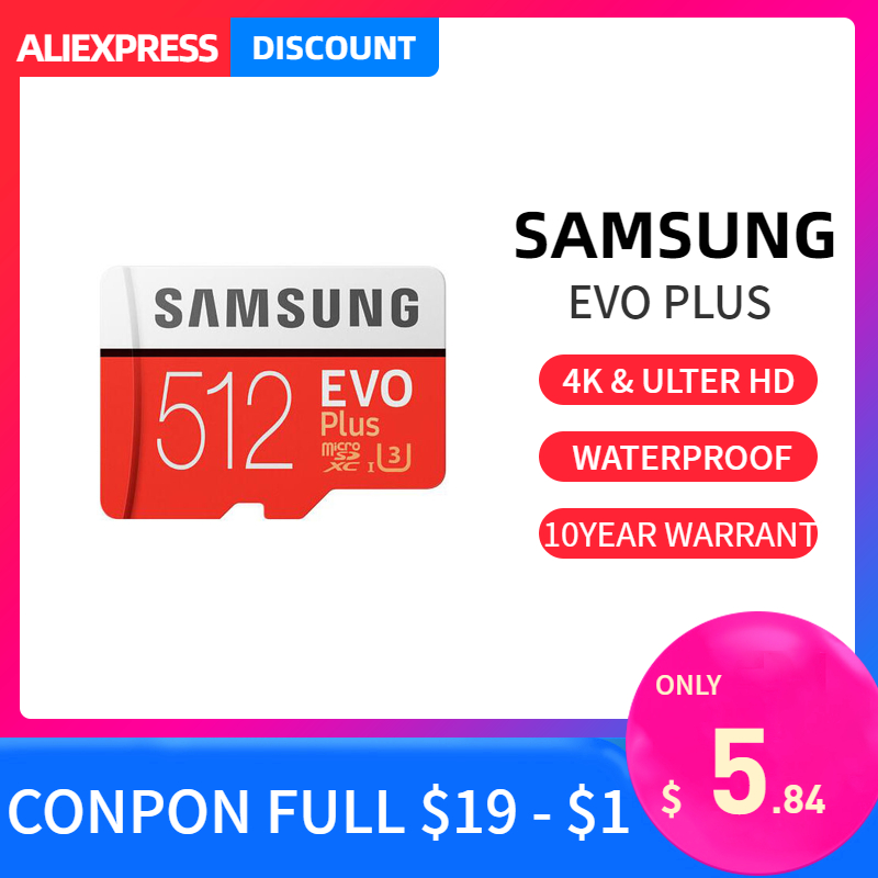 Samsung Evo Plus Micro Sd Card 32GB 64GB 128GB 256GB 512GB Sdxc U3 Cartao De Memoria Tarjeta Sd Compact Flash  Tablet Laptop