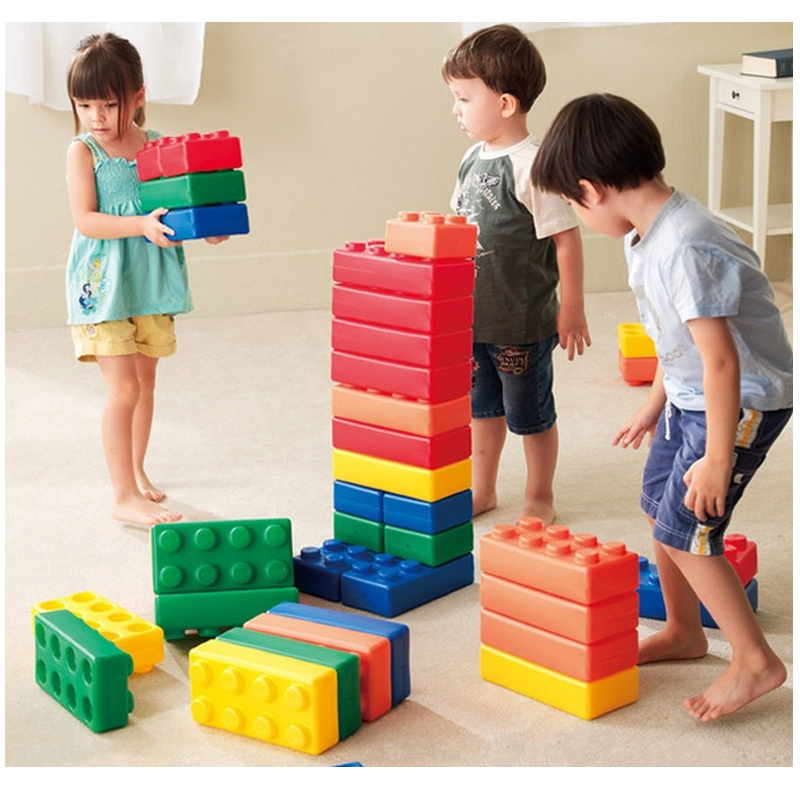 45Pcs Enlighten Bricks Jumbo Large Building Blocks Friends Playground Kindergarten Kids Children Sensory Toys