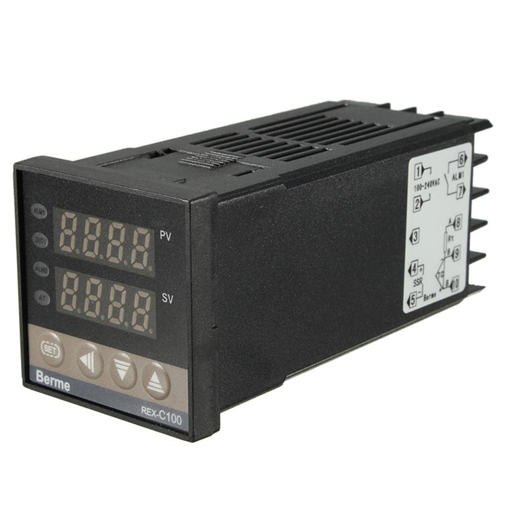 Digital 220V  PID REX-C100 Temperature Controller Max.40A Relay High Quality
