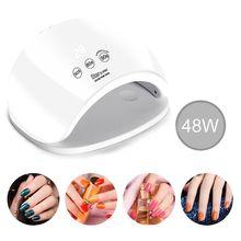 48W Nail Lamp UV Dryer for UV Gel Nails Dryer Infrared Sensor Timer Settings Manicure Machine 21pcs LED Curing Lamp Light T4MB