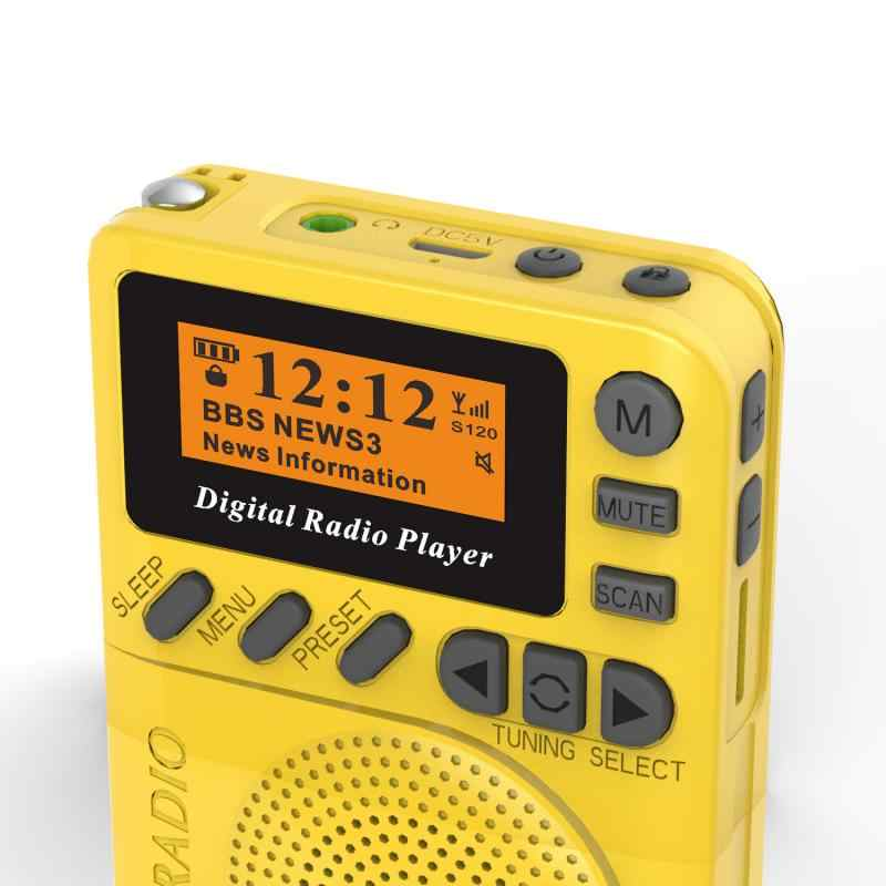 P9 Mini Pocket Dab Digitale Radio Fm Digitale Demodulator Draagbare MP3 Speler