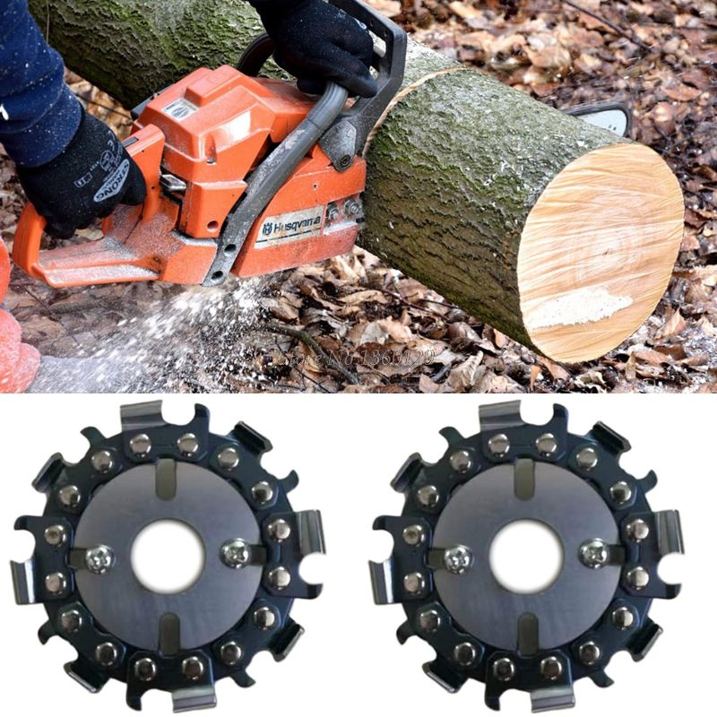 8 Tooth Chain Plate Wood Carving Disc Cutting Piece Woodworking Slotted SawBlade For Angle Grinder Dropship