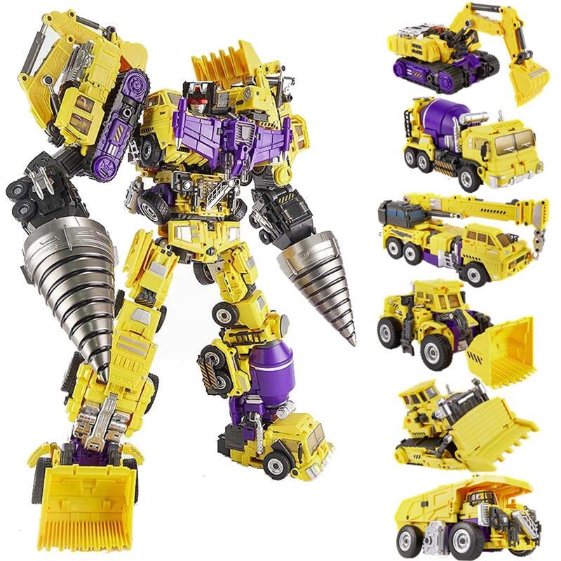 Oversize Transformers NBK Devastator Transformation Boy Toy Action Figure Yellow