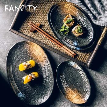FANCITY Extreme talerz w kształcie rymu kreatywna nakładka stykowa duży ceramiczny talerz płytki talerz ryżowy kuchnia domowy płaski talerz tanie i dobre opinie CN (pochodzenie) Geometryczny Wzór Plac