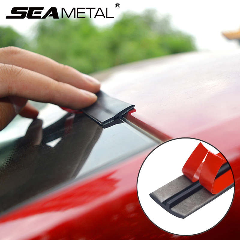 Stickers Car-Window-Seal Sound-Insulation Weatherstrip Noiseproof Auto Edge title=