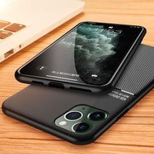 Anti Drop Slim Matte Case For iPhone 12 mini 11 XR Pro Max SE 2020 XS X 8 7 6S 6 Plus 5 5S Cover Phone None Slip Magnetic Ring