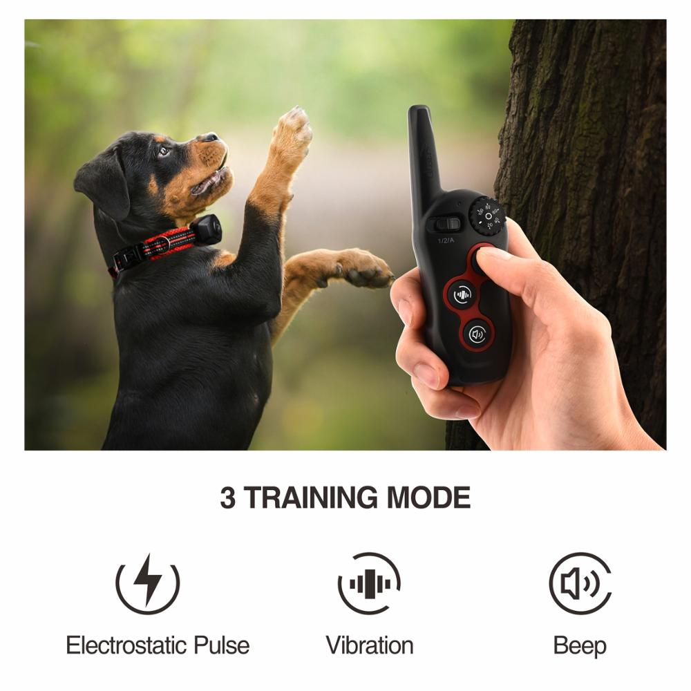 400M Rechargeable and 2 in 1 Dog Training Collar and Anti Bark Collar with Remote Control 2